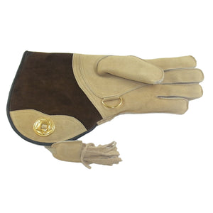 Falconry Suede Double skinned glove fleece lined. (for those cold days up north)