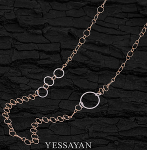 Rose Gold & Diamond Long Chain Necklace
