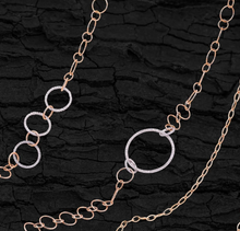 Load image into Gallery viewer, Rose Gold & Diamond Long Chain Necklace