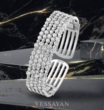 Load image into Gallery viewer, White Gold & Diamond Cuff Bracelet