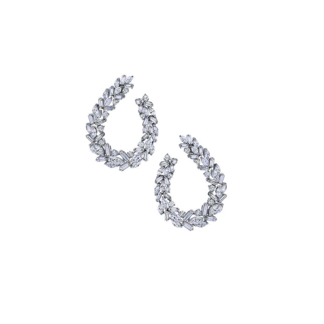 Marquise & Baguette Diamond Earring