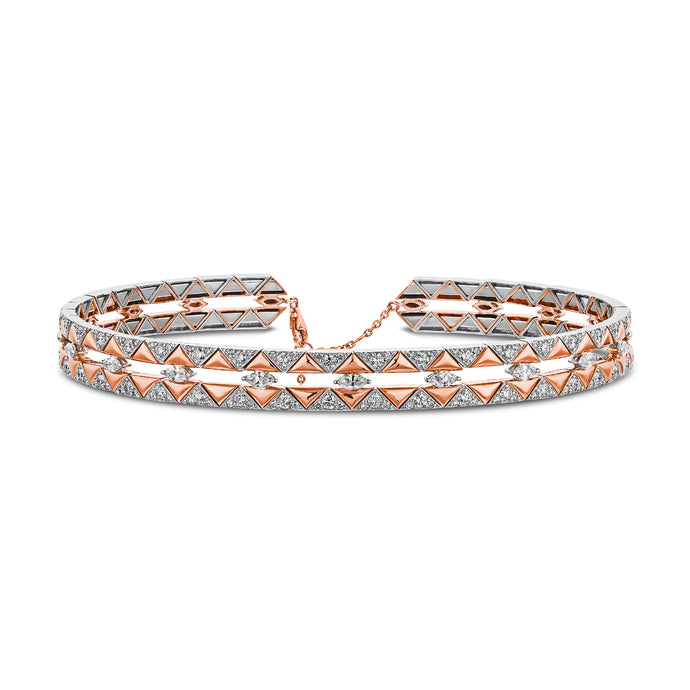 Rose Gold & White Diamond Choker