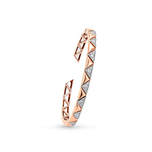 Rose & White Gold Diamond Cuff Bracelet
