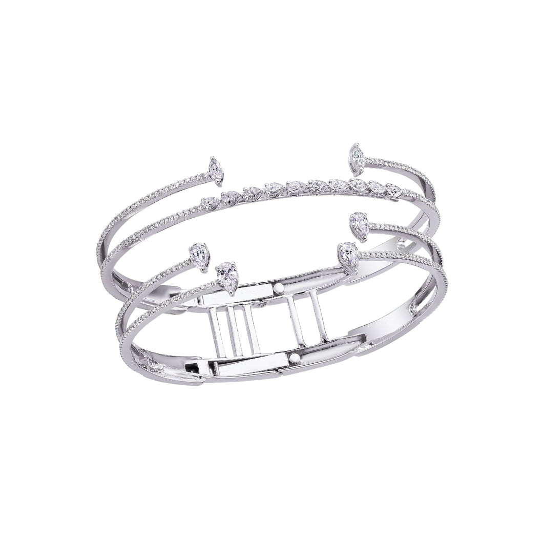 Diamond & White Gold Cuff Bracelet