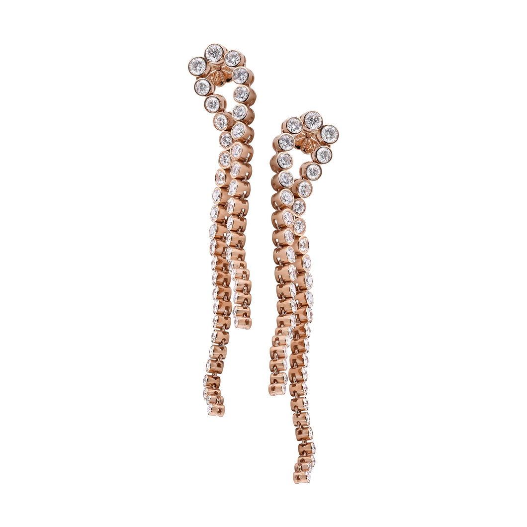 Rose Gold & Diamond Chandelier Earring