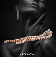 Load image into Gallery viewer, Rose Gold & Diamond Chandelier Earring