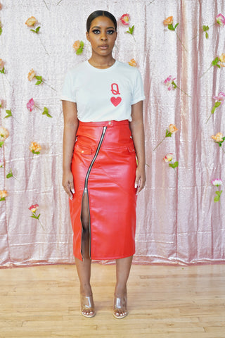 Red Hot Midi Skirt