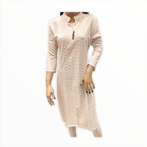 Women's Cotton Embroidered Kurta Kurti