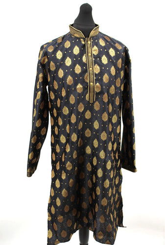 Men's Sherwani Kurta Art Silk Man's Wedding Dress Traditional Wear