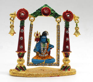 Metal Show Piece Small Statue Idol For Car Dash Board Home Temple Gift Item