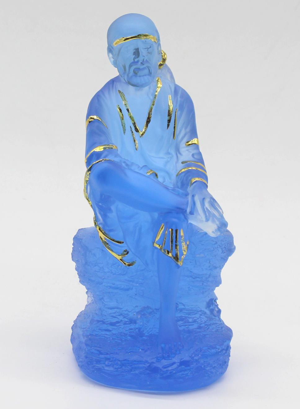 HINDU GOD STATUE BLUE COLOURED - FOR HOME DECORATION GIFT ITEM