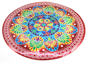 Diwali Rangoli Sticker Round Indian Mandala Bigger - Puja Gift Item