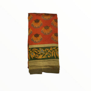Printed Saree With Blouse Piece (soft silk)