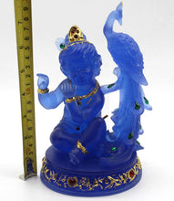 Load image into Gallery viewer, HINDU GOD STATUE BLUE COLOURED - FOR HOME DECORATION GIFT ITEM