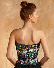 Strapless Fully Beaded Top