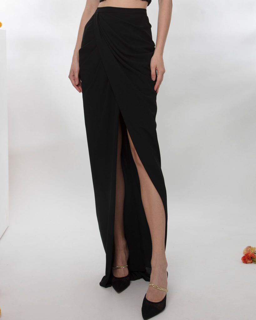 Draped Mousseline Skirt