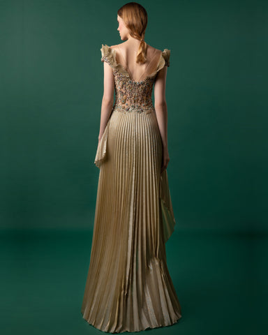 Beaded Pleated Dress