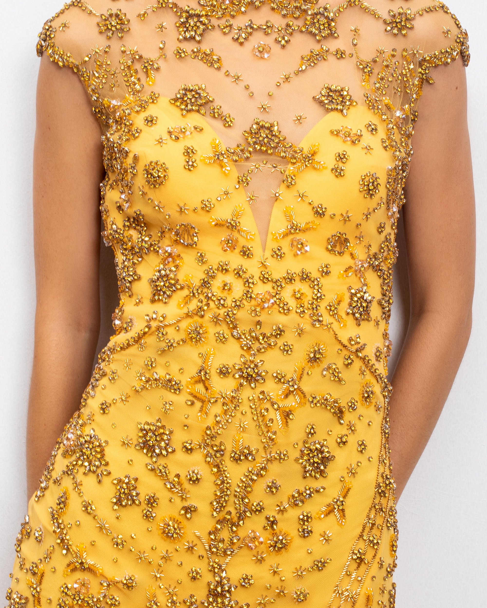 Bejeweled Slim Dress