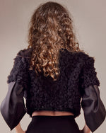 Ruffled Detail Jacket
