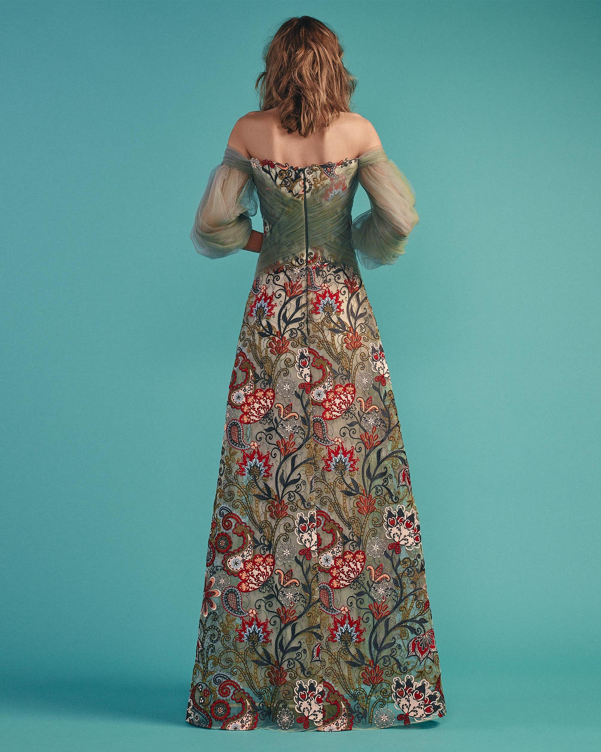 Floral Embroideries Dress