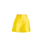 Piqué Yellow Shorts