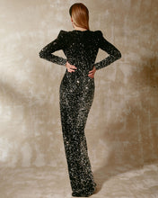 Velvet Sequined Paillette Dress