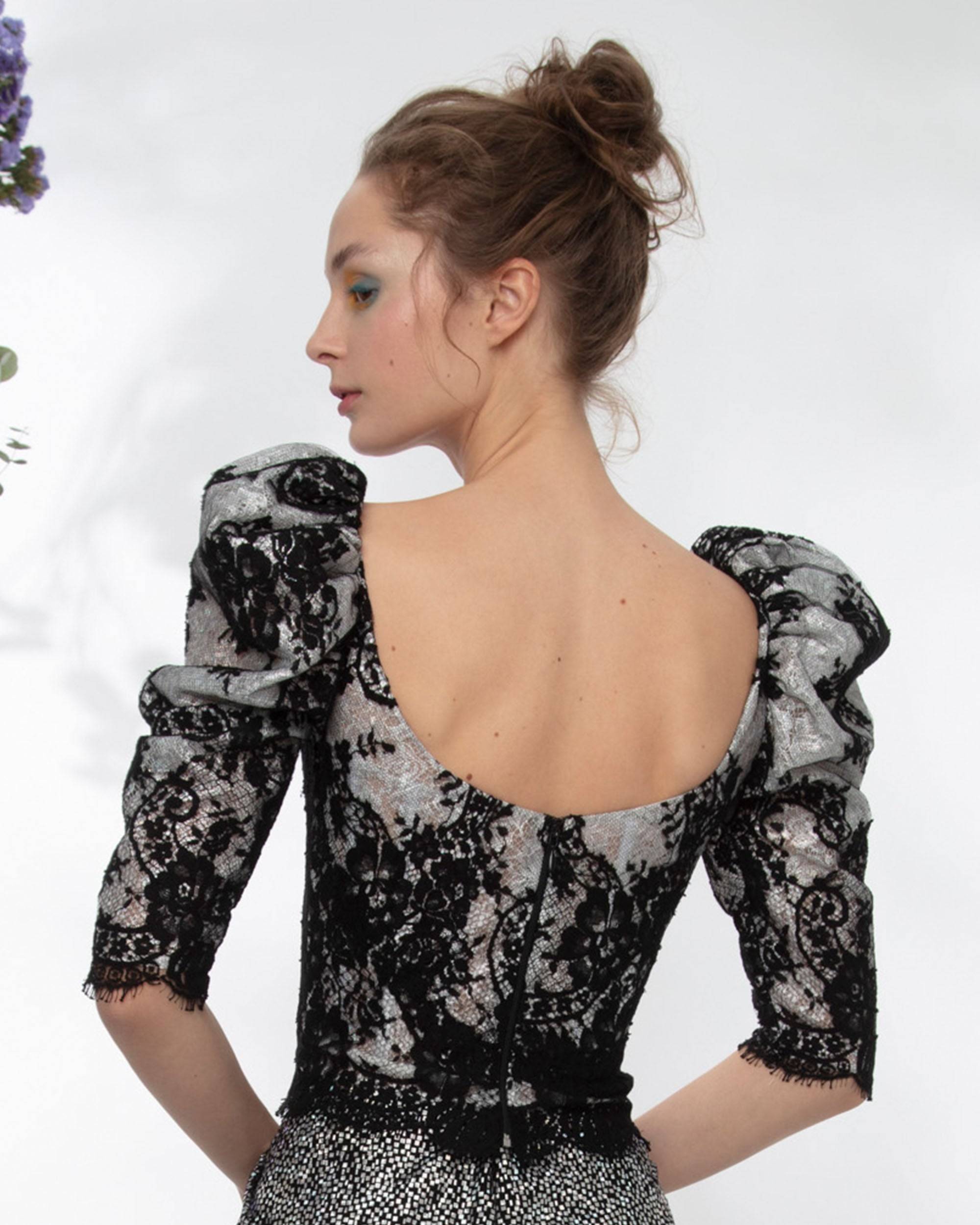 Lace Corset-Like Top