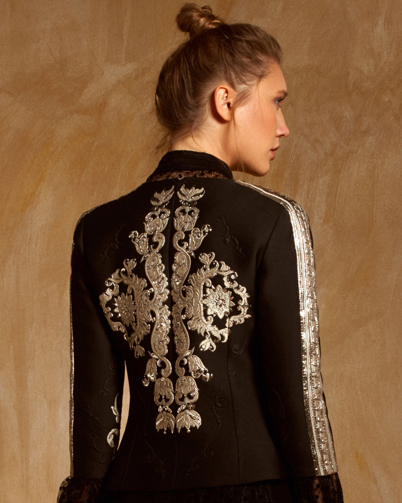 Embroidered Jacquard Jacket