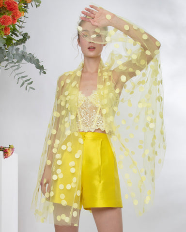 Polka Dots Yellow Cape