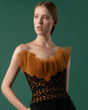 Strapless Pleated Tulle Top