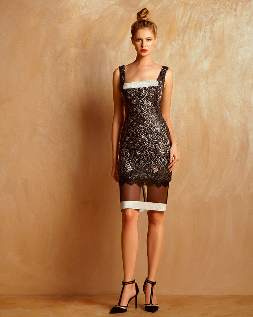 Metallic Guipure Dress