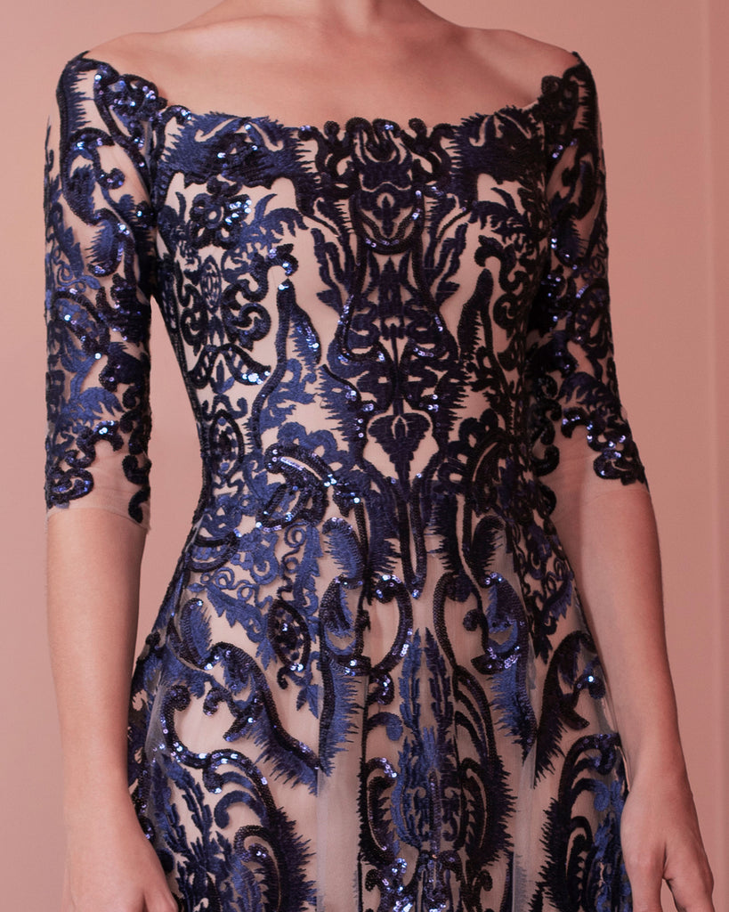 Sequin Embroidered Dress