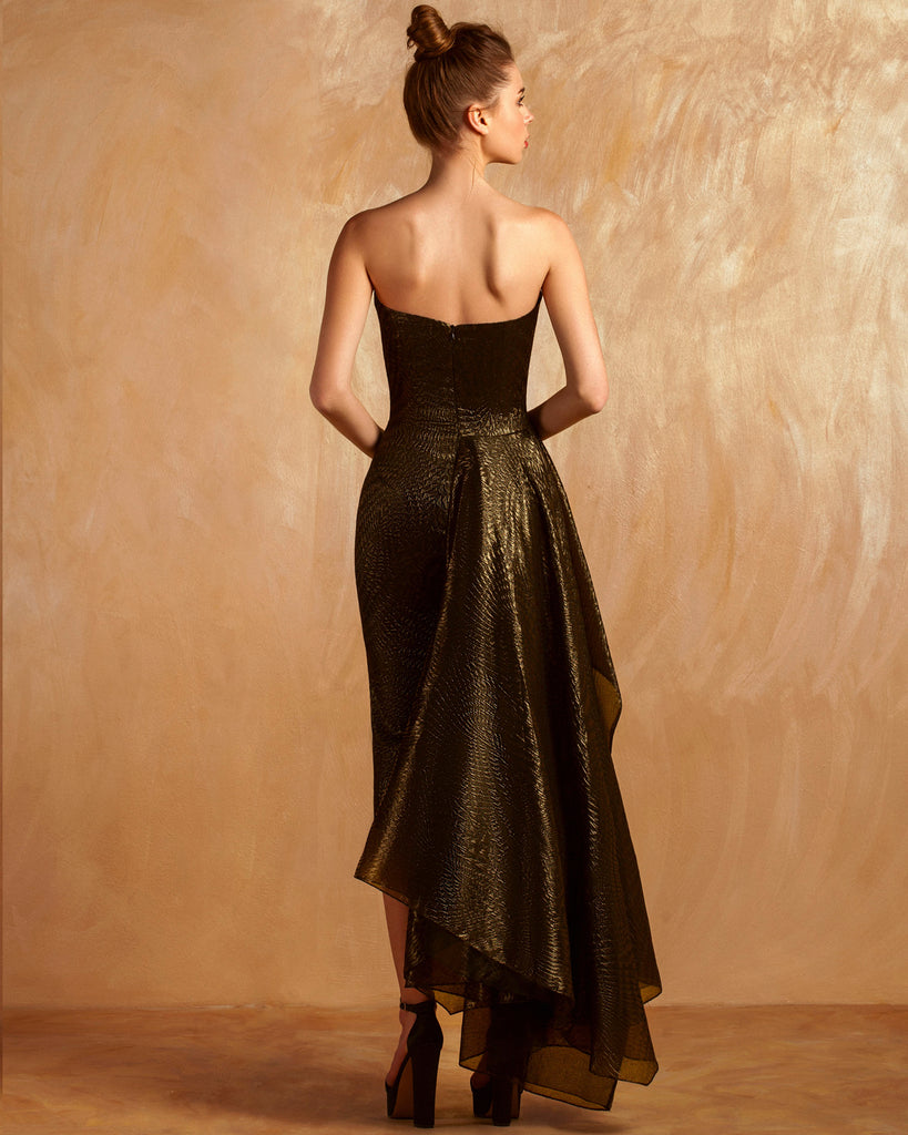 Strapless Midi-Dress