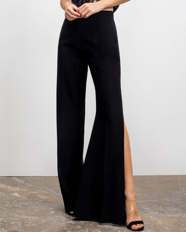 Flared Cut Crepe Pants