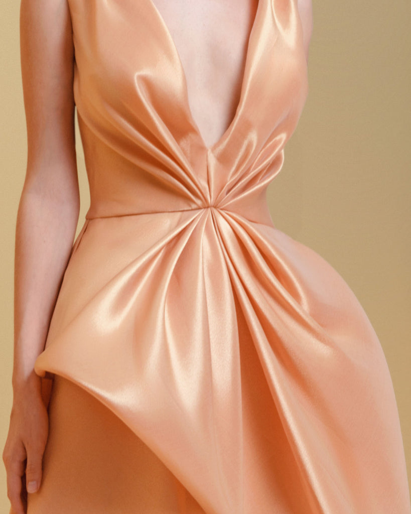 Asymmetrical Glossy Dress