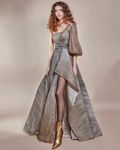 One Shoulder Shimmery Dress