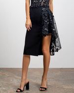 Beaded Crepe Skirt