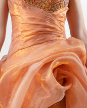 Shiny Organza Midi Dress