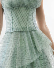 High-Low Dotted Tulle Dress