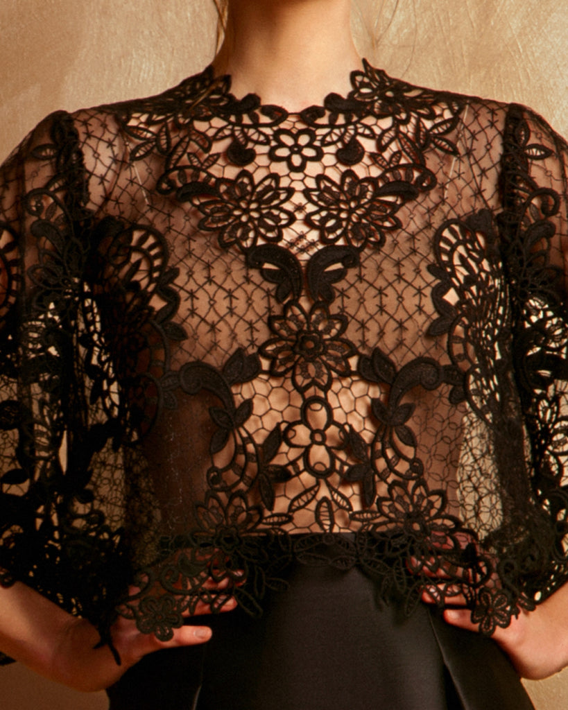 See-Through Guipure Top