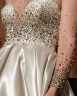 Beaded Bodice Dress With Bolero