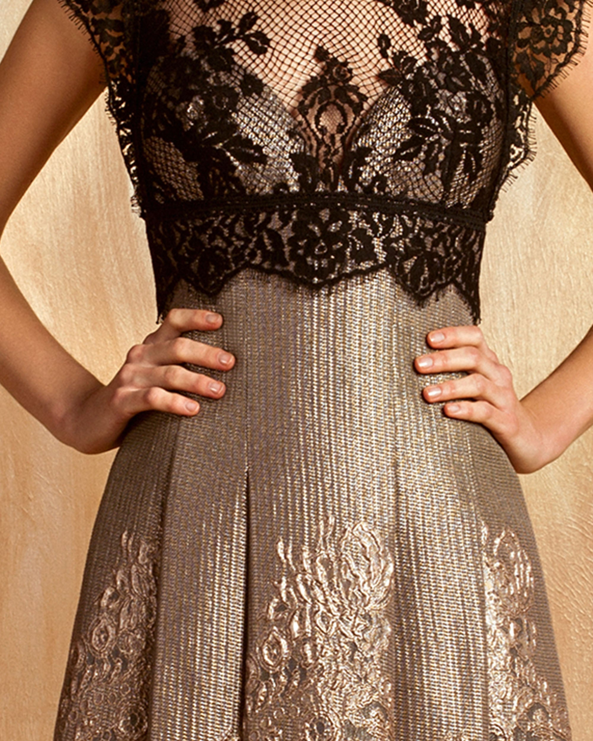 Embroidered Lace Jacquard Dress