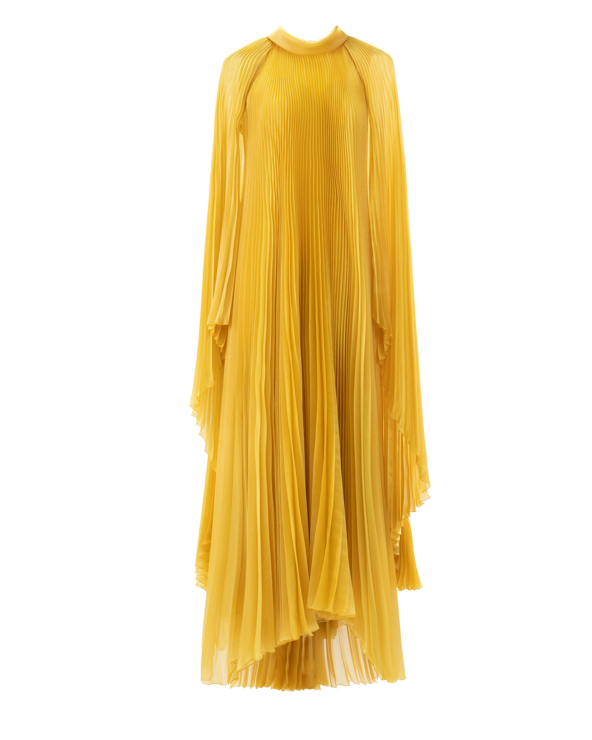 Pleated Cape-Like Dress