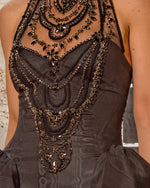Embellished High-Neck Dress