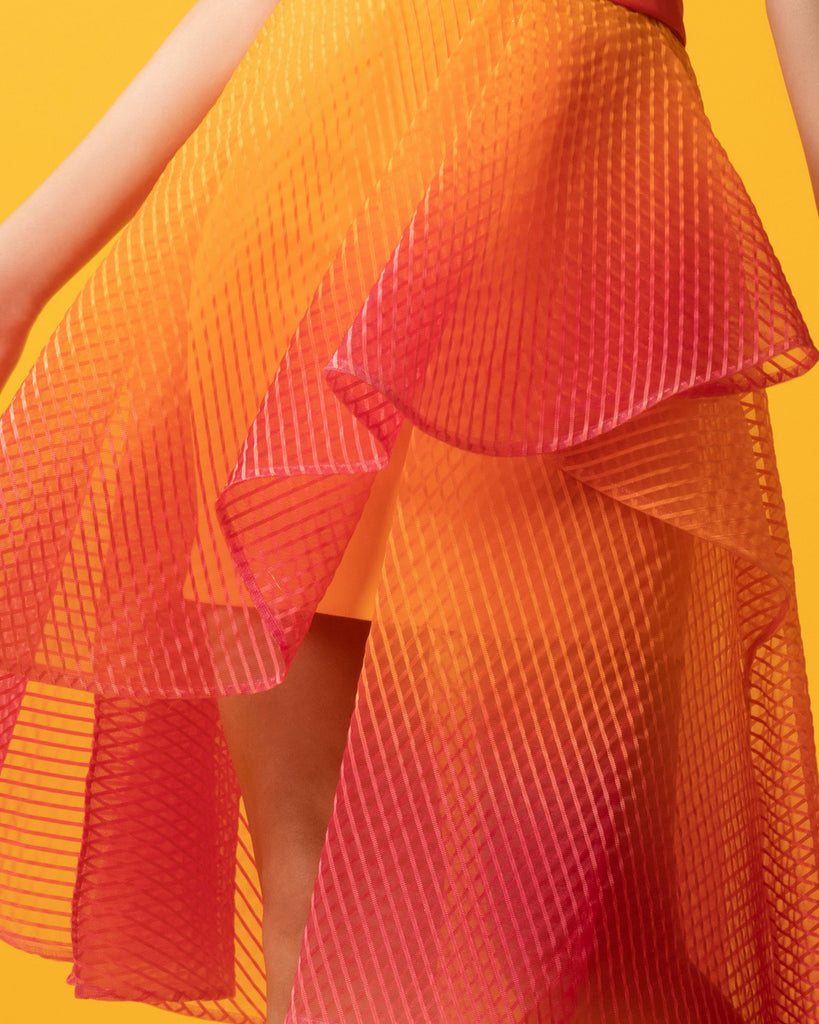 Ruffled Crain Skirt