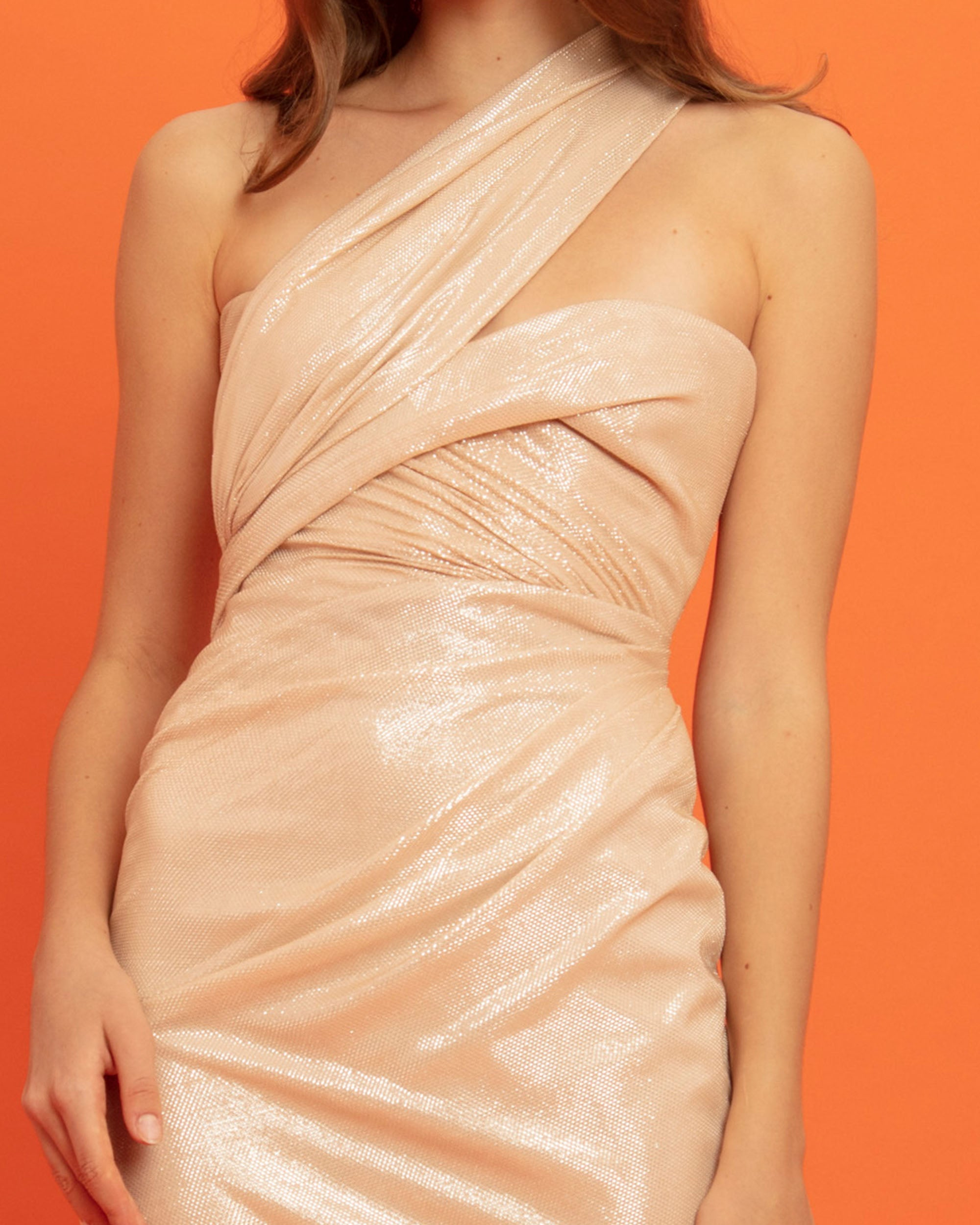 One-shoulder Shimmery Dress