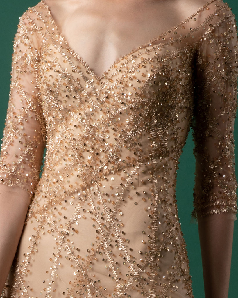 Fully Beaded Gown