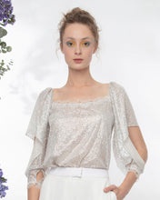 Shimmery Top With Lace Details