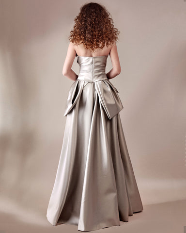 Bow-Cut Long Dress