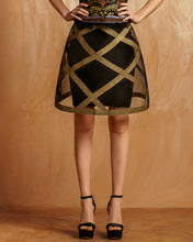 Gold Stripes Skirt